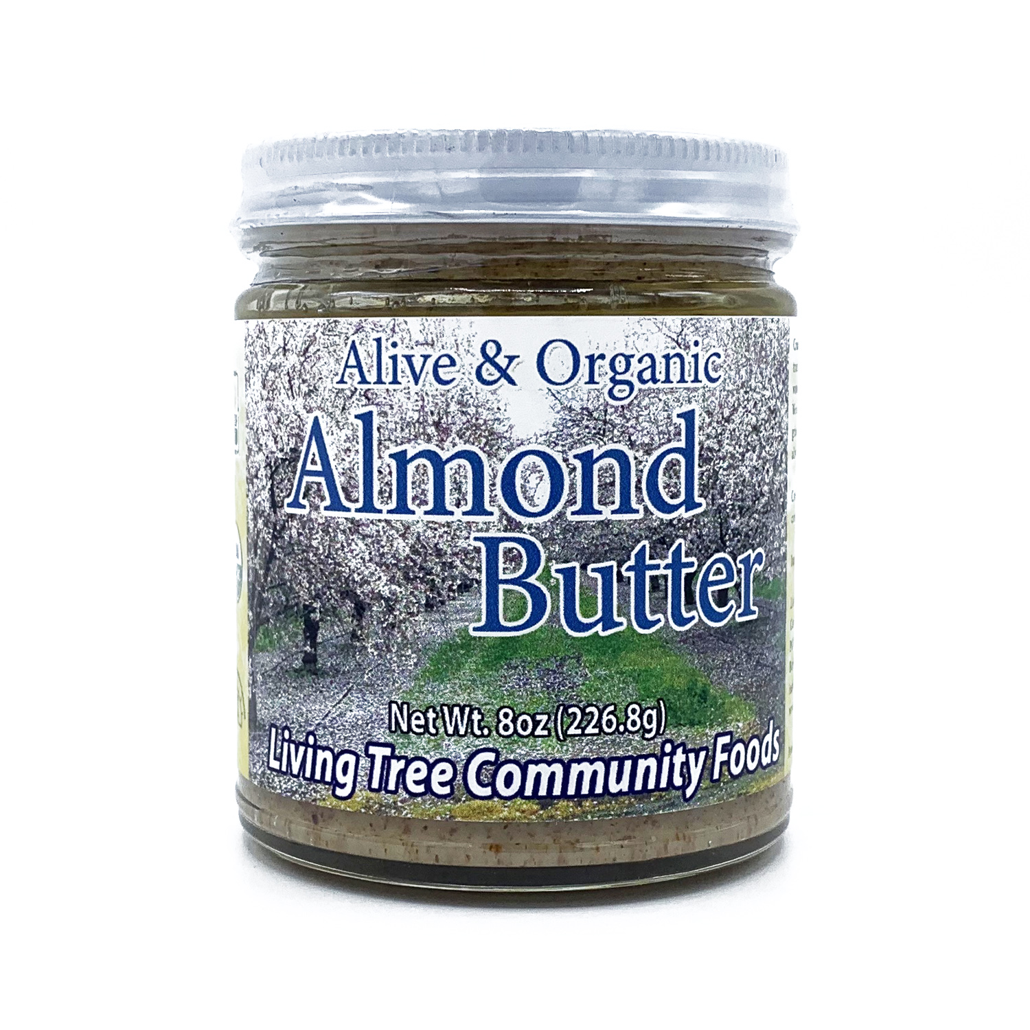 Organic almond butter - raw and alive 8oz.