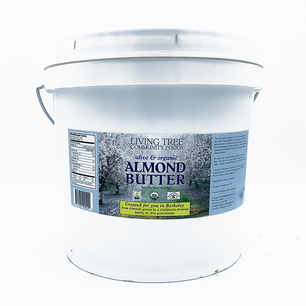 Almond butter bucket 18lb. tub