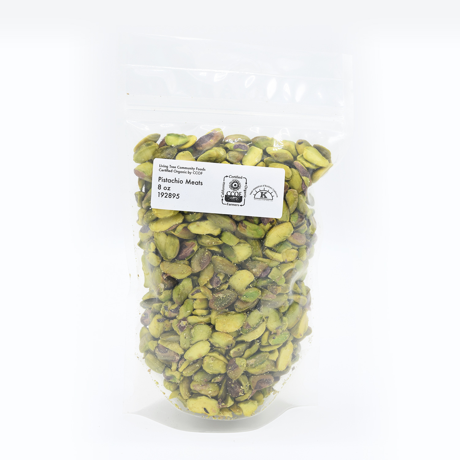 Organic pistachios shelled