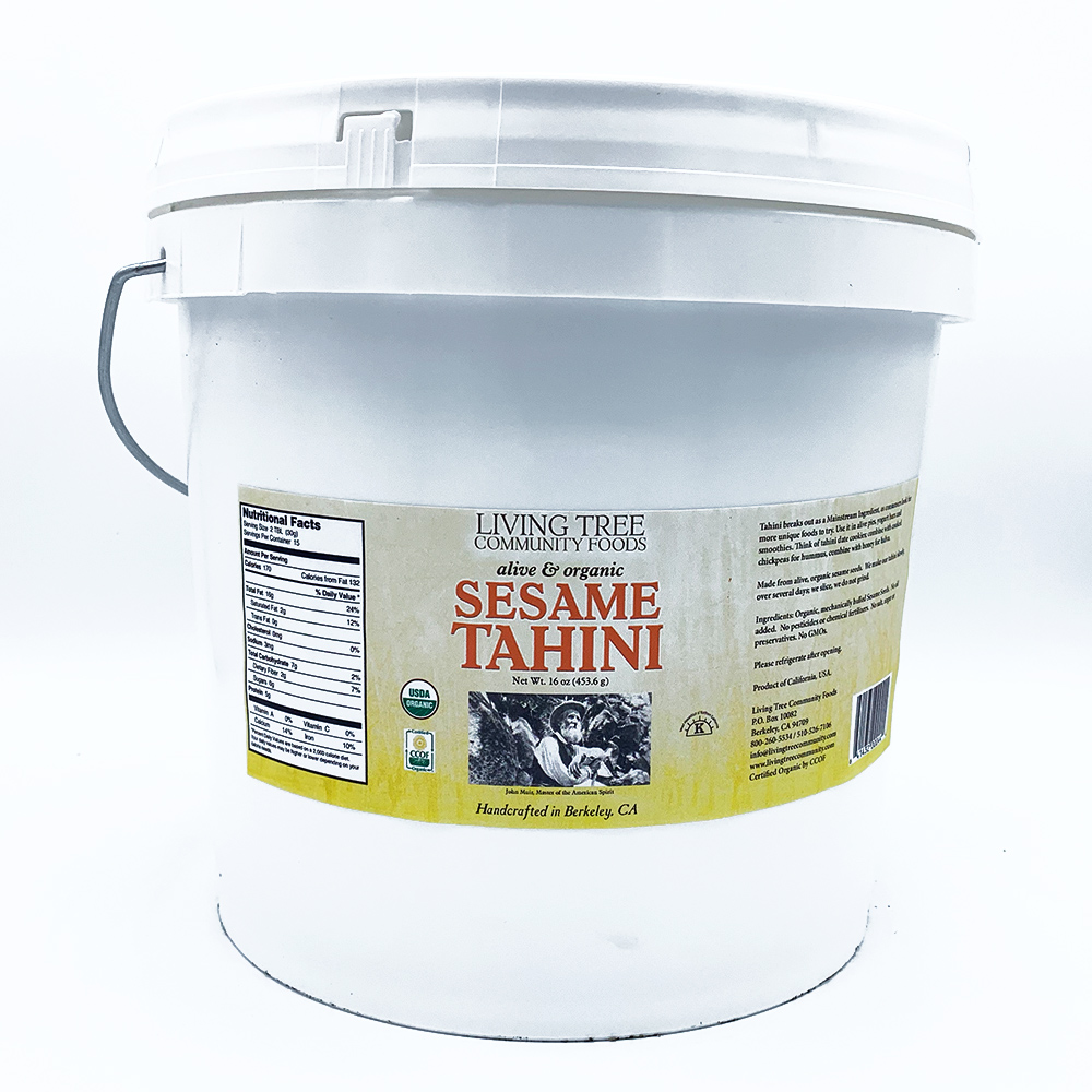 Sesame tahini - alive and organic 18lb. tub