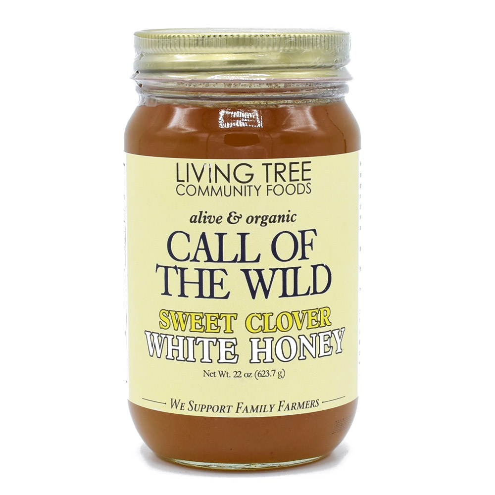Call of the Wild Clover Honey Raw Alive and Organic
