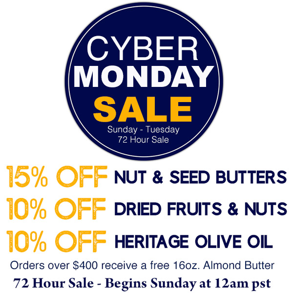 Cyber Monday sale 10% through 15% off