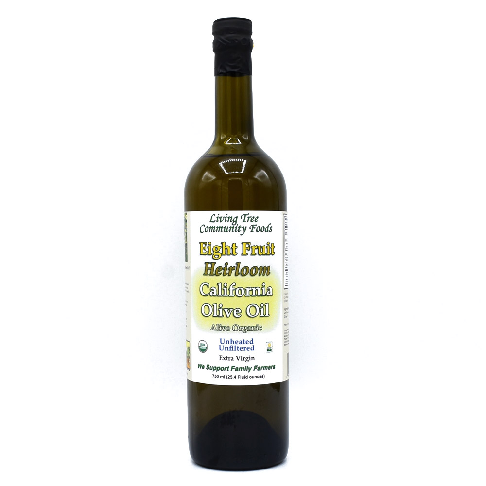 Eight Fruit Heirloom Olive Oil - Extra Virgin - Alive and Organic 750ml