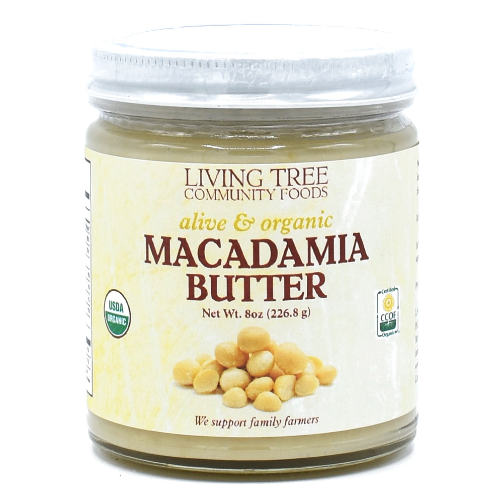 Macadamia Butter Raw, Alive and Organic