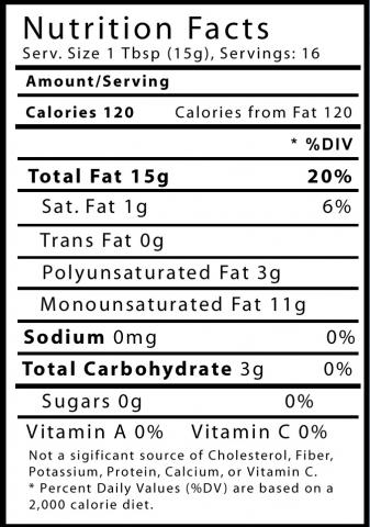 Almond oil nutritional info