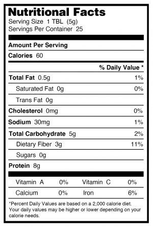 Nutritional yeast organic nutritional info
