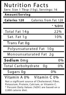 Walnut oil nutritional info
