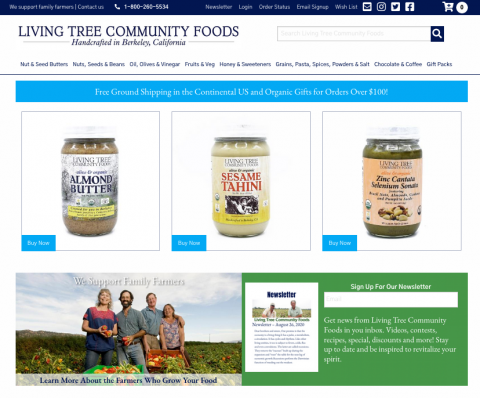 Living Tree Community Foods Homepage Image