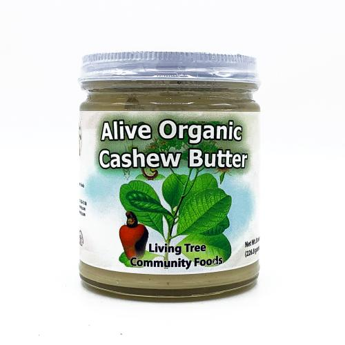 Cashew butter alive and organic 8oz.