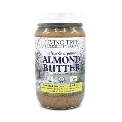 Organic almond butter - raw and alive