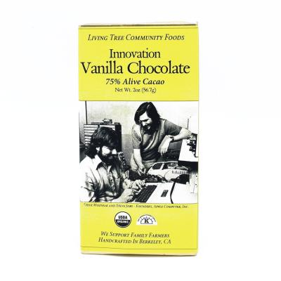 Vanilla innovation chocolate bar